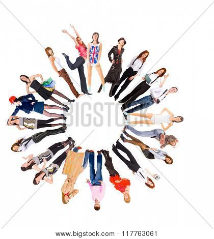Many Colleagues Standing Together