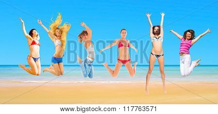 Active Girls On a Sunny Day