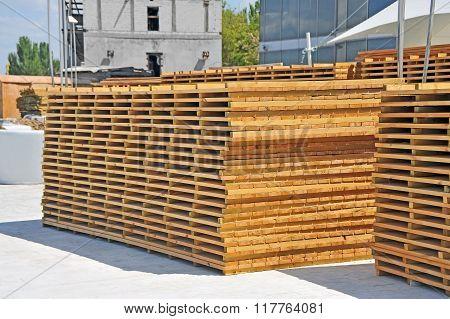 Wooden board for terrace