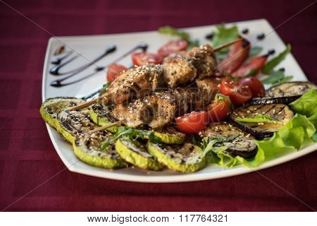 Grilled kebab pork meat