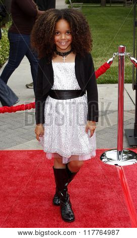 JadaGrace at the Los Angeles premiere of