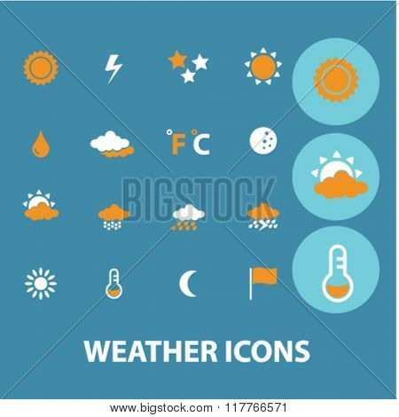 weather icons, climate icons, weather logo, weather concept - set