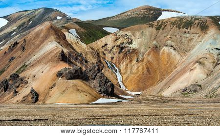 Landmannalaugar valley in the south of Iceland