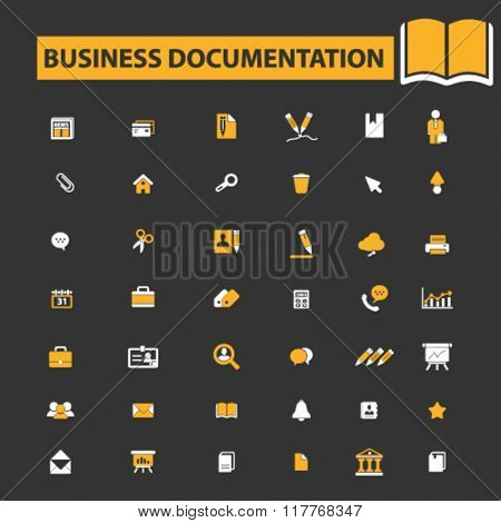 business documentation, document management, business icons