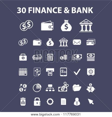 finance, bank, credit, savings, investment icons