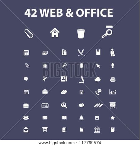 web office supplies, freelance icons