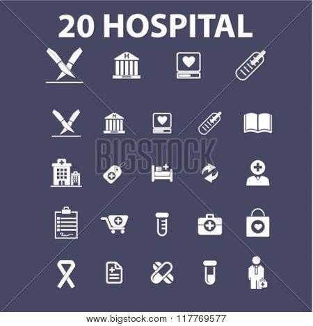 hospital, medicine icons