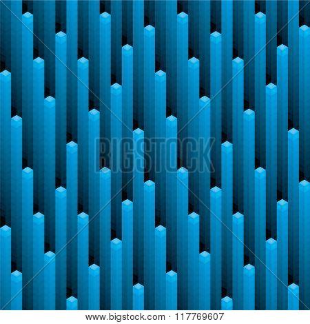 Pixel cosmic rain seamless background