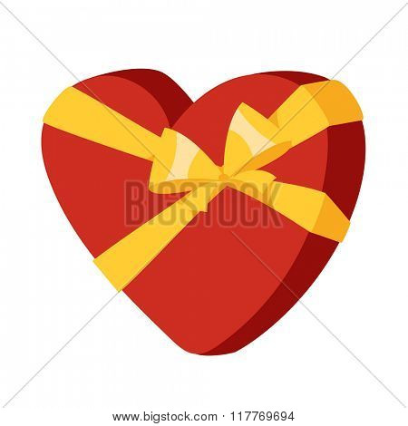 Valentines heart greeting card element design. Valentine Day or Wedding Day design with heart. Greeting card vector illustration.