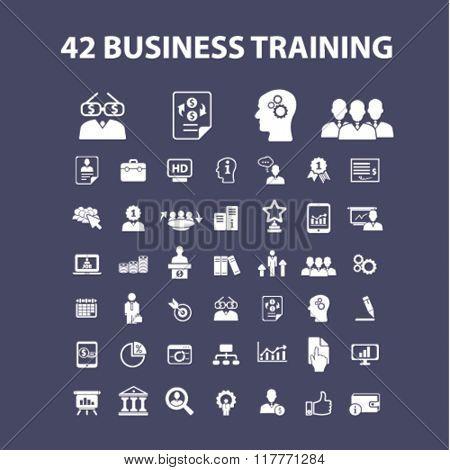 business training, webinar icons