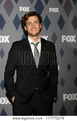 LOS ANGELES - JAN 15:  Jack Cutmore-Scott at the FOX Winter TCA 2016 All-Star Party at the Langham Huntington Hotel on January 15, 2016 in Pasadena, CA