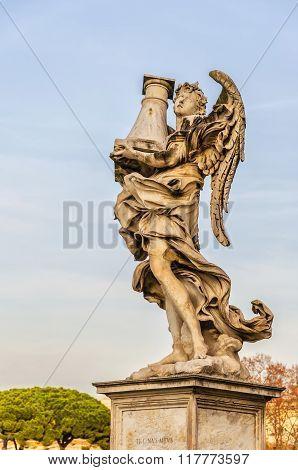 Rome Angel Statue On Bridge