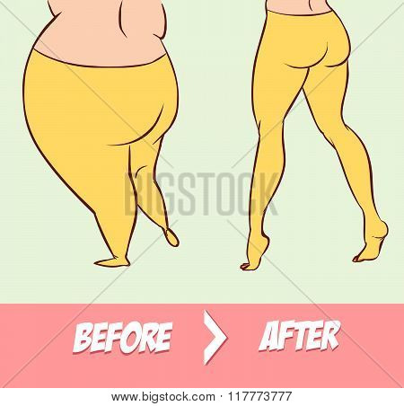 White Backround Illustration Of The Two Different Body Types