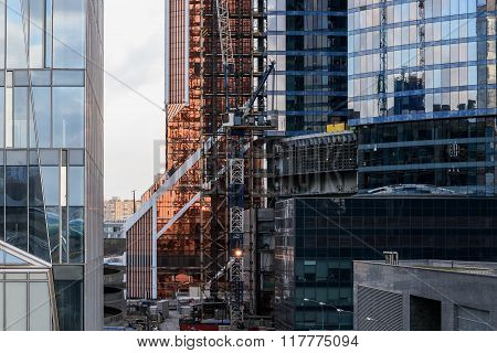 Building Construction Modern Glass Reflections