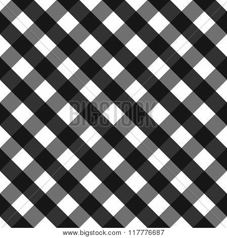 Black seamless pattern, black gingham background.