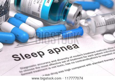 Sleep Apnea Diagnosis. Medical Concept.