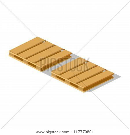 Isometric 3d Pallet Design Flat