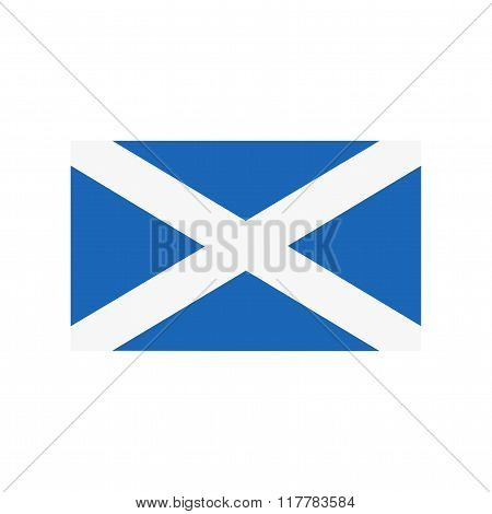 A flag of Scotland