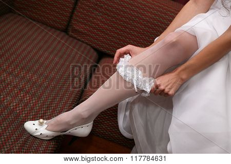 The Bride Wears A Wedding Garter