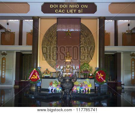 The interior of the memorial complex Ho Chi Minh to Vung Tau. Vietnam