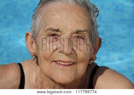Senior Woman Having Fun