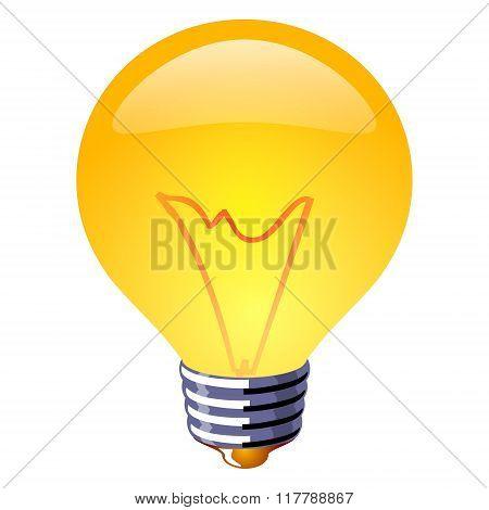 Enable Lamp Icon Illustration