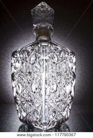 A crystal vase