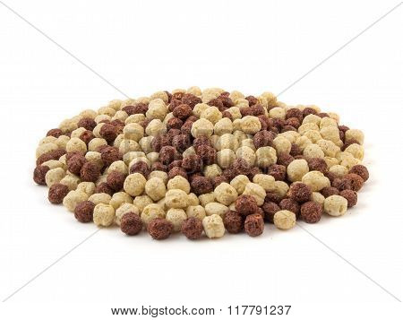 Corn Flakes Breakfast Cereal In A White And Brown Bowl