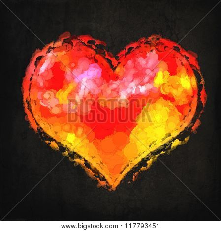 Glowing Heart Illustration