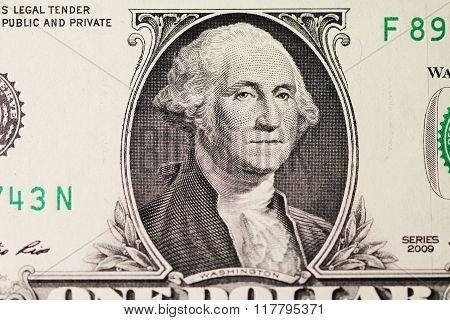 Dollar bill paper close up macro photo