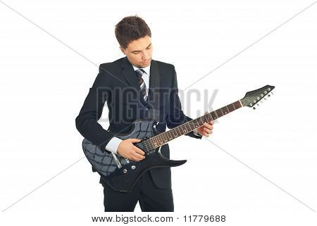 Handsome Businessmanwith Guitar
