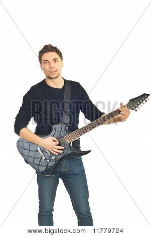 Casual Man With Guitar