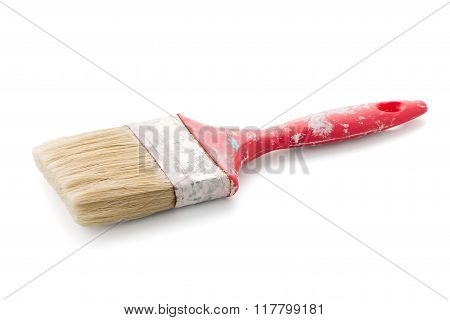 Red Used Paint Brush