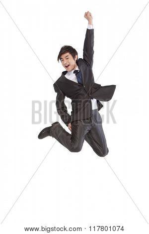 A jumping man