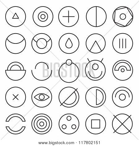 Round Experimental Icons