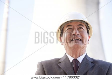 Businessman in Hardhat