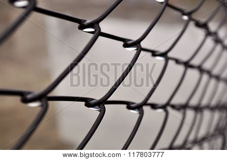 Steel Fence Macro Fragment