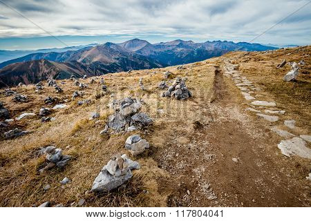 Beautiful Tatry mountains landscape Red Hills