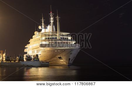 Yacht Of Sultan Qaboos In Muttrah, Oman