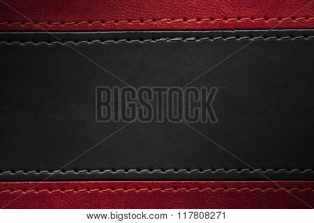 Red And Black Leather Texture