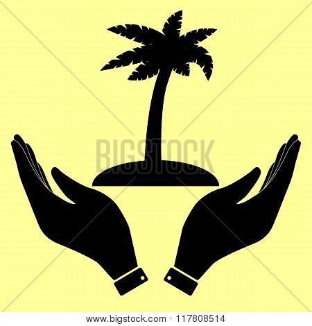 Concept icon with hands