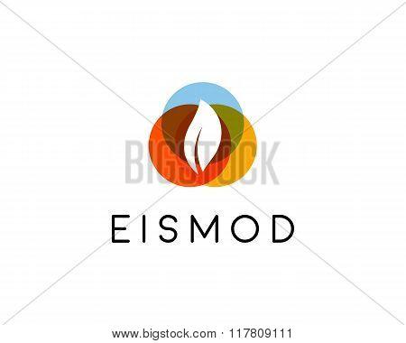 Abstract leaf logo design. Natural bio symbol. Universal organic vector icon. Health fresh sign.