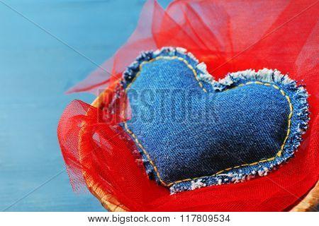 St Valentines decor on wooden background