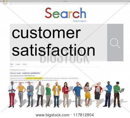 Customer Satisfaction Services Satisfied Concept