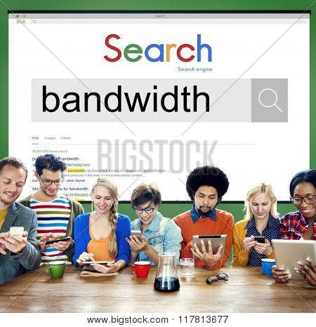 Bandwidth Internet Connection Online Technology Concept