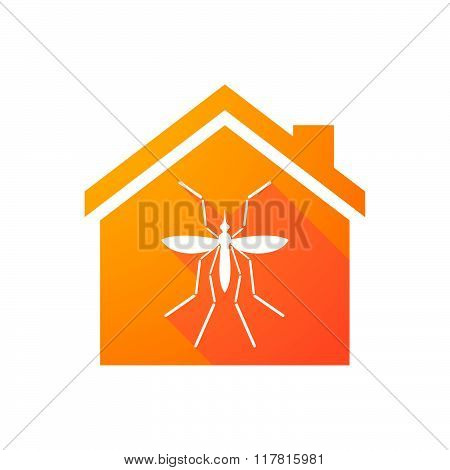 Zika Virus Bearer Mosquito  In A House Icon