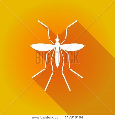 Zika Virus Bearer Mosquito On A Colored Background