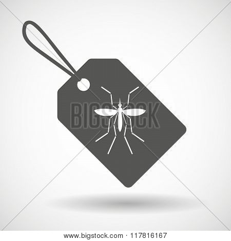 Zika Virus Bearer Mosquito  In A Grey Label