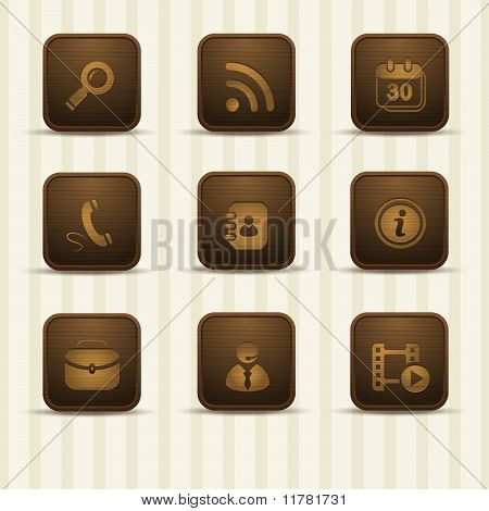 set of wooden relistic icons, part 2