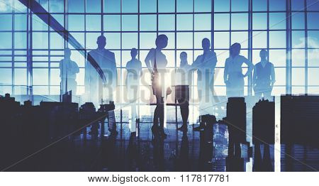 Business People Teamwork Corporate Vision Concept